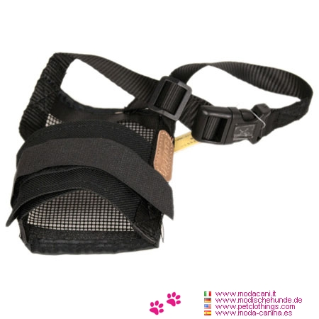 Museruola Nera Flessibile per Cani
