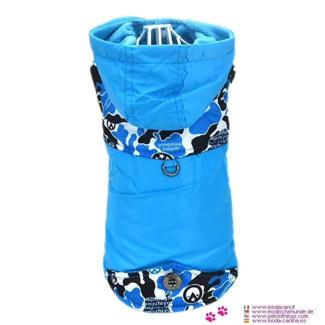 Manteau pour Petit Chien en Camouflage Bleu
