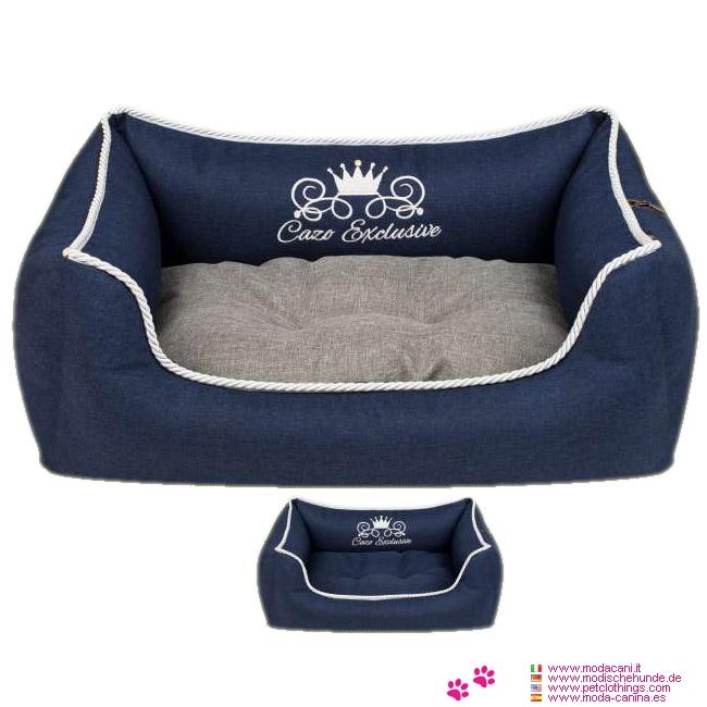 Cuccia Sfoderabile Blu per Cani Piccoli e Taglia Media