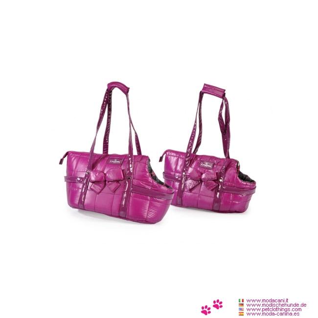 Bolso Acolchado Púrpura Vogue para Perros Pequeños