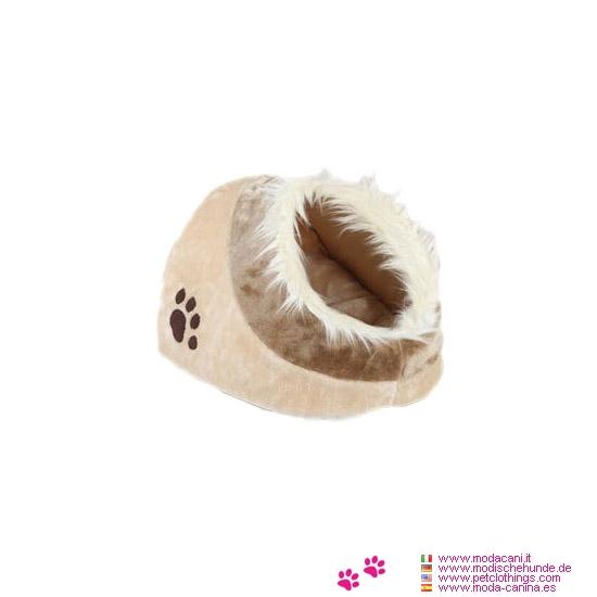 Cuccia Nido Beige per Cane Piccolo e Gatto