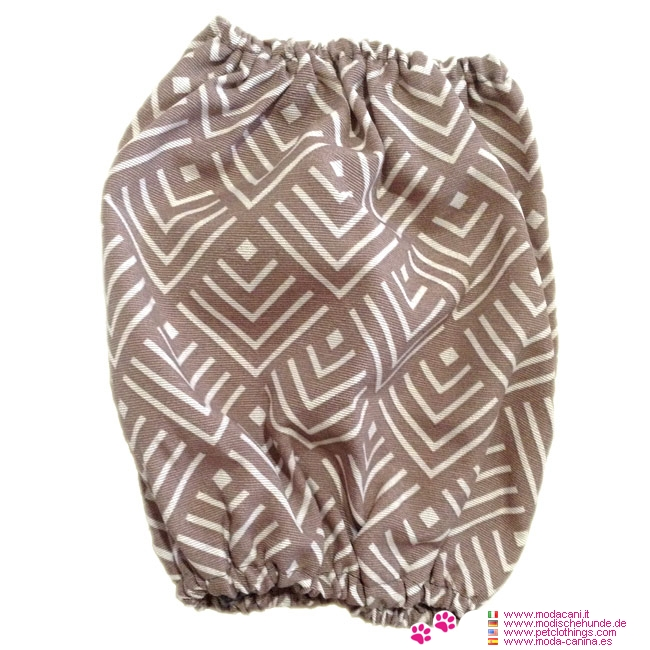 Snood for Cocker Spaniel in Beige with Geometric Designs