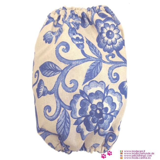 Orejera para Cocker Spaniel con Flores Azules