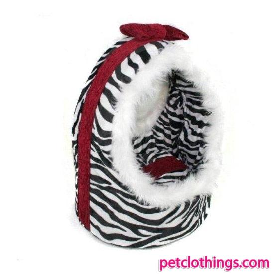 Cesta de Zebra para Perro Grande