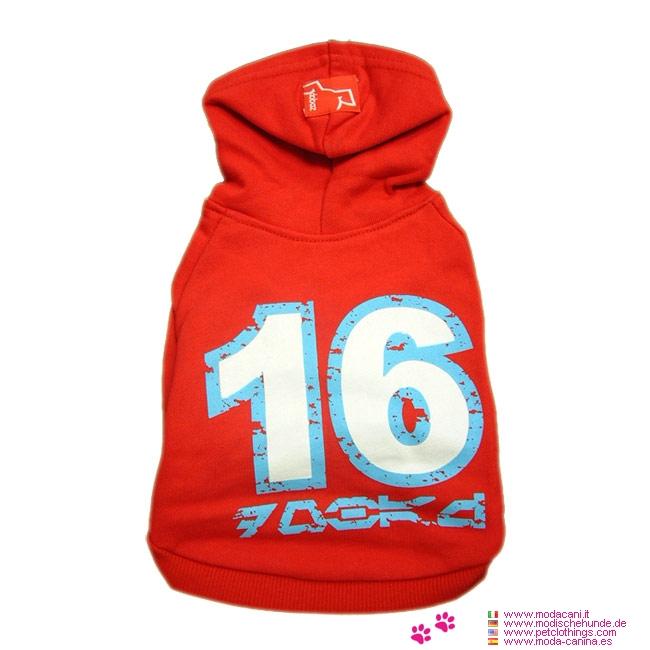 T-shirt Rouge pour Chiens en Coton 16Red