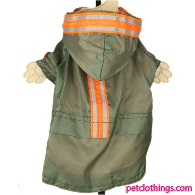Fluorescent Green Dog Raincoat