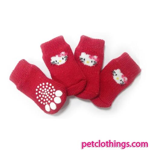 Calzini Rossi per Cani con micio