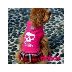 Vitality Dog Dress in Fuchsia with Skirt