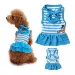 Hawaii Dog Dress in Blue