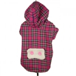 Magenta Tartan Coat for Small Dogs