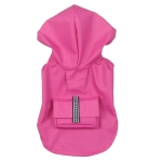 Sleeveless raincoat for small sized dogs in Magenta