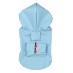 LightBlue sleeveless raincoat for small sized dogs
