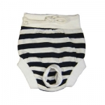 Black and White striped Pants slip for dogs