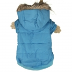 Plain Sky Blue Dog Parka