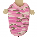 Pink Camouflage Dog T-Shirt