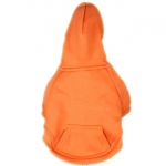 Sweat-Shirt Uni Orange pour Gros Chien