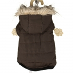 Plain Brown Dog Parka
