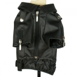 Faux Leather Black Jacket for Big Dogs