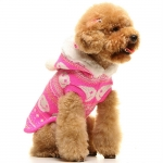 Pink sweater for dogs with Smile pattern