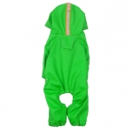 Four Legged Raincoat for small dogs in Green