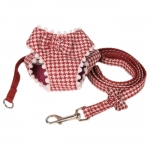 Pied-de-Poule Harness for Small Dogs in Red
