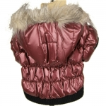 Dog Bomber Jacket in Dark Red
