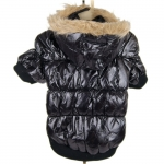 Black Puffer Jacket for large dogs