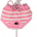 White and Pink Striped Pants for Small and Medium Dogs