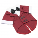 Evening Dress for Small Dogs in Dark Red