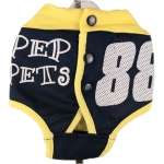 Dog Panties in Yellow and Blue with Buttons on the Back