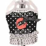 Dress for Dogs Kiss Kiss in Black with Polka Dots