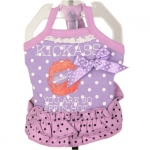Dress for Dogs Kiss Kiss in Lilac with Polka Dots
