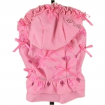 Dog Dress 1000 Bows with Skirt in Pink