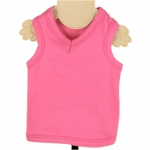 Fuchsia Cotton Tank Top for Dog
