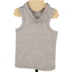Gray Cotton Tank Top for Dog