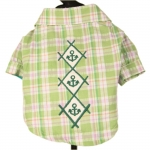 Light Green Shirt with Embroideries on the Back