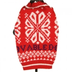 Sweater with Winter Pattern for Small Dogs in Red