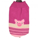 Dog Sweater Piggy Fuchsia