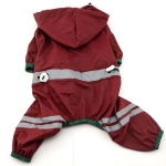4-legged Dog Raincoat in Dark Red