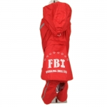 FBI Red Raincoat for Small Dog 4 Legs