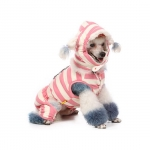 Pink Winter Jumpsuit for Dogs with Neck warmer and Hood