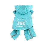 FBI Blue Raincoat for Small Dog 4 Legs