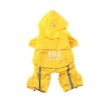 FBI Yellow Raincoat for Small Dog 4 Legs
