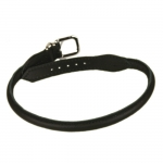 Rolled Leather Collar for Dogs in Black