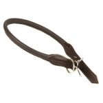 Rolled Leather Collar for Dogs in Brown