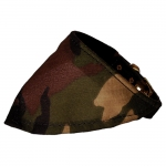 Dog Collar with Green Camo Bandana