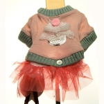 Pink Sweater for Dog with Tulle Skirt