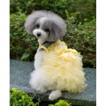 Vestito da Cerimonia Giallo per Cani Piccoli e Chihuahua