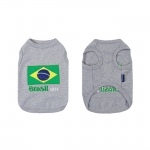 Gray Undershirt Brasil 2014 for Small Dogs