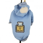 Light Blue Dog Sweatshirt with Hood and Pon Pon